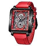 Elegante Reloj de Pulsera para Hombres BERSIGAR Relojes para Hombre Reloj Rectangular Relojes con...