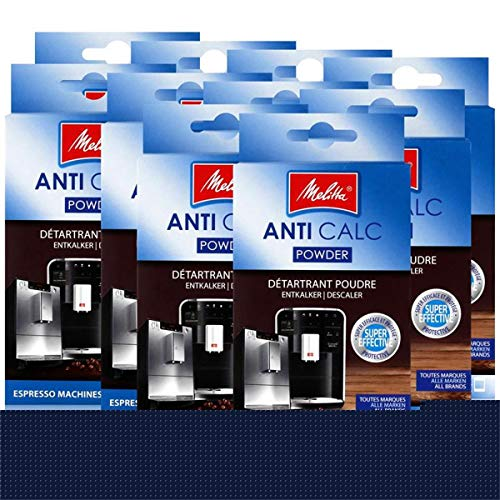 Melitta Anticalc Espresso Machines Entkalker Pulver 2x40g (10er Pack)