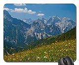 Yanteng los poderosos Alpes en Primavera Cojín de ratón, Mousepad * Cojín de ratón de Las montañas * Inc