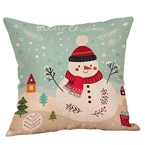 Lilicat Weihnachten Kissenbezug 18 x 18 Zoll Casual Baumwolle Reißverschluss Kissenbezug Home Kissenhülle Taille Wurf Kopfkissenbezug für Zuhause und Sofa Schlafzimmer Dekoration