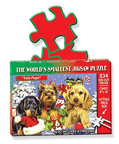 """Jigsaw Puzzle 234 Pieces 4""""X6""""-World's Smallest-Yule Pups"""
