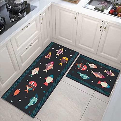 HLXX Alfombra antideslizante de cocina de dibujos animados alfombra de cocina alfombra absorbente sala de estar baño alfombra entrada A6 40 x 120 cm