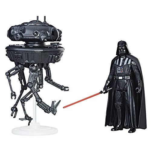 Star Wars Hasbro – C1246 Force Link – Imperial Probe Droid & Darth Vader Actionfigur, 10cm