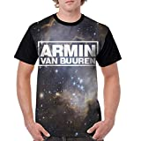 Armin Van Buuren Men Short Sleeve T Shirt 3D Printed Graphic Round Neck T-Shirts