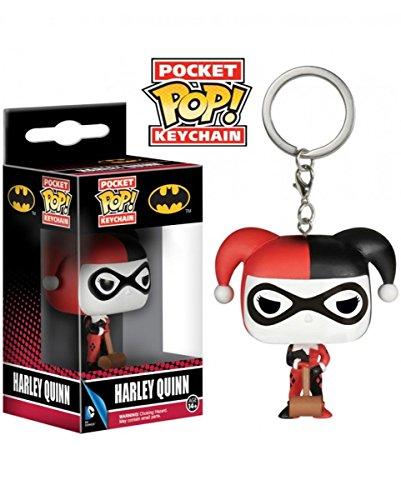 Horror-Shop Batman Harley Quinn Schlüssel-Anhänger Pocket POP