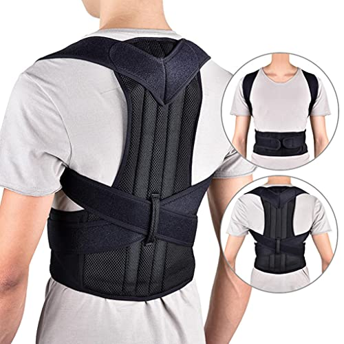 Posture Corrector for Women and Men,Back Support Straightener, Back Posture Magnetic Shoulder Corrector for Improve Posture,for Neck, Back and Shoulder Pain Relie,Fits Waist Size: 33.8-38.5Inches