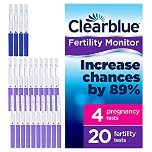 Clearblue 20recambio pruebas de fertilidad y 4pruebas de embarazo