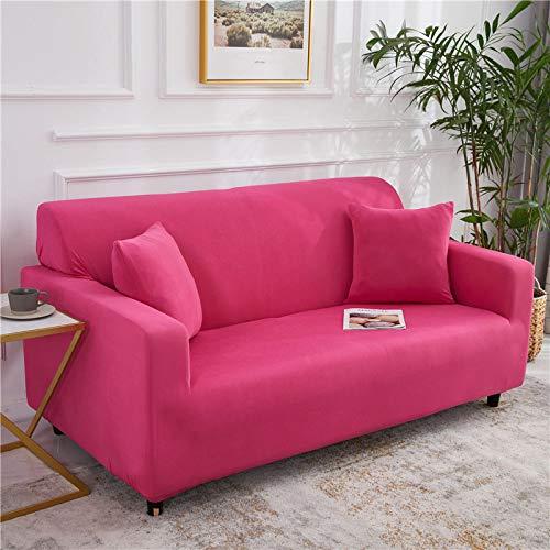 Fundas Sofa Elasticas,Moderno Color Puro Rosa Rojo Minimalista Moda Súper Elástica,Antideslizante,Resistente A Las Arrugas,para Perros,Gatos,Mascotas,Elástico,Protector De Muebles,Fundas De Sofá