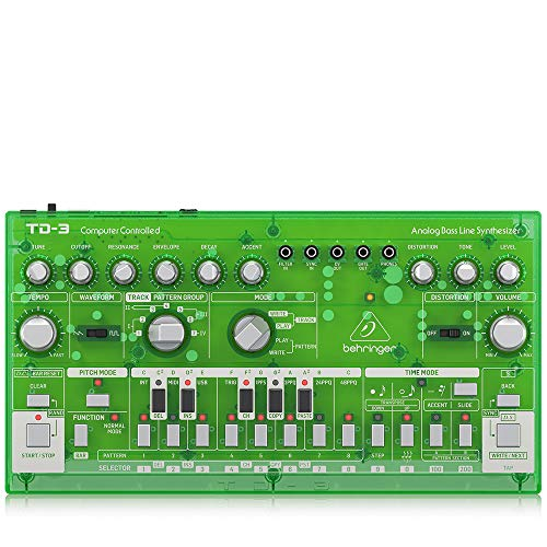 Behringer アナログベースラインシンセサイザー USB/DIN MIDI対応 16ステップシーケンサー アナログディストーション搭載 TD-3-LM
