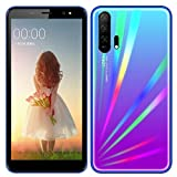 SIM-Free & Unlocked Mobile Phones, Android GO 3G Beatiful Smartphone with 5.5 Inch HD IPS Display, 2800mAh Big Battery,Dual SIM Dual Cameras and Durable Cell phones (A5Pro-Blue)