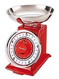 Balanza de cocina mecánica Karcher - diseño retro / vintage - max. 5 kg - rojo