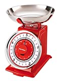 Karcher Bilancia da Cucina Meccanica Design retrò/Vintage - Max. 5 kg - Rosso