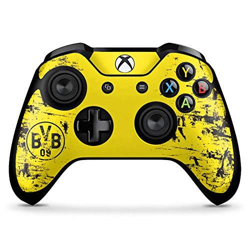 DeinDesign Skin kompatibel mit Microsoft Xbox One X Controller Folie Sticker Borussia Dortmund Offizielles Lizenzprodukt BVB