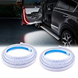 SS VISION Car Door LED Strip Warning Lights, 12V Dual Color White & Red Car Door Lights Flash Safety Lights Anti Rear-end Collision