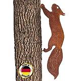 Glaskönig - Rostiges Eichhörnchen rennend - Baumstecker Edelrost Deko Höhe 15cm x Länge 42cm - Metall Rost Gartendeko als Eichhörnchen Figur- Rostdeko für draussen
