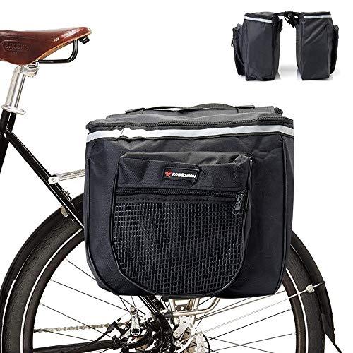 Grneric Fahrradtaschen Gepäckträger,Gepäcktaschen Mountainbike,Fahrrad Aufbewahrungstasche,multifunktionale wasserdichte Doppeltasche,Rennradgepäck,Fahrradtasche Satteltasche Doppelpacktasche,25L