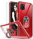 LeYi Coque pour Samsung Galaxy Note 10 Lite / A81 [2 × Verre Trempé] Anneau Support, AIR Cushion...