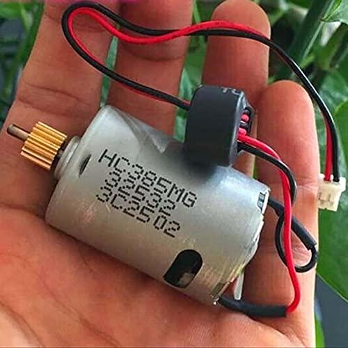 YUXIwang Motor eléctrico 1 unids 385 JOHNSON HC385MG Motor DC 3-12V 28700RPM Cepillo de carbono de alta velocidad de alto par con engranaje y anillo magnético compatible con bricolaje