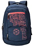 Killer Houston 36L Large Laptop Backpack with 2 Compartments Navy Blue Polyester Trendy