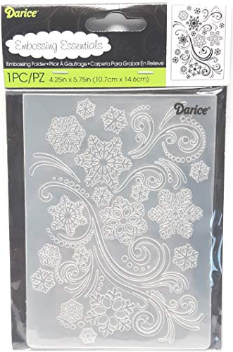 Darice Carpetas de estampación, Plantilla Copo de Nieve, Plastic, 10,8 x 14,6 cm