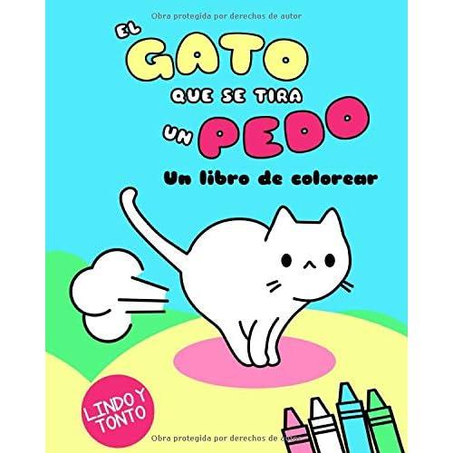 El Gato Que Se Tira Un Pedo: Un libro de colorear Kawaii Colorear ...