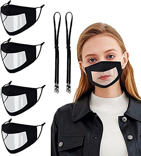 wz Mascherina Trasparente Nera Antinebbia Lavabile Respirabile Riutilizzabile Plastica Confortevole Fabrica di Cotone 3 Strati in Disegni in Moda per Uomo Donna