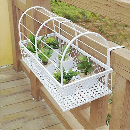 CFTGB Plantenrek, bloemenrek, balkon, bloemenrek, plant, staand rek, ijzeren ophangbaar, bloempothouder, voor binnen en buiten, tuin, woonkamer, balkon, slaapkamer, leuning, vensterbank