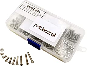 Mcbazel Stainless Steel M3 5mm 6mm 8mm 10mm 12mm 14mm 16mm 18mm 20mm Hex Button Head Screws Nuts Set 340 pcs