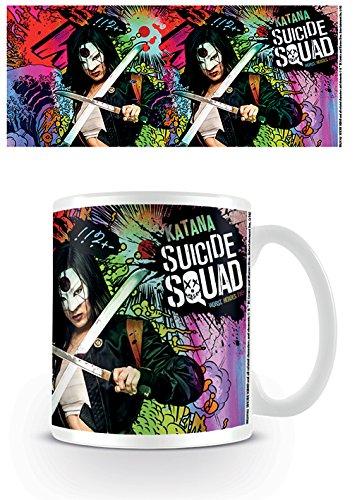 DC Comics Suicidio Squad Katana Crazy Taza de cerámica, Multicolor