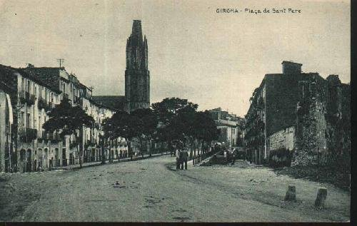 POSTAL ANTIGUA - Old Postcard - GIRONA - Plaça de Sant Pere