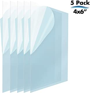 Icona Bay PET Plastic Replacement for Picture Frame Glass (4 x 6, 5 Pack) PET is The Ideal Replacement Glass Material to Avoid Shattering Glass