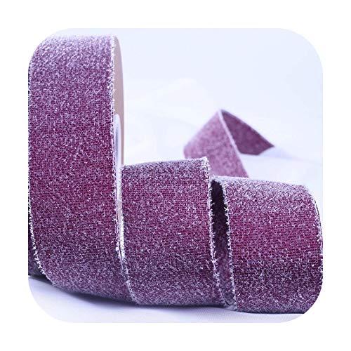 Ribbons Muti - Cinta de terciopelo brillante de 10 m, para manualidades, embalaje de regalo, accesorios de bricolaje, cinta para el pelo, 10 mm, 16 mm, 25 mm, 3 vinos, 10 m