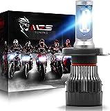 MZS Mini Lampadine H4 LED per Moto, 5000LM 60W 6500K Fari Abbaglianti e Anabbaglianti Kit Sostituzione per Alogena Xenon Luci Lampada Bianco (1 Pezzo)