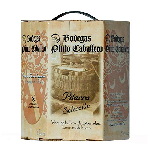 5 litros de vino de Pitarra Roble. Envase'Bag in Box'