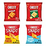 Cheez-It Baked Snack Cheese Crackers Variety Pack - 4 Flavors Single Serve School Lunch Snacks (Case contains 42 Count), 42 Piece Assortment
