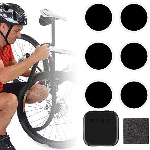 GIYO Fahrrad Flicken selbstklebend Fahrradschlauch Reparaturset (ohne Reifenheber)