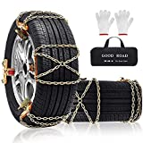 Snow Chains 8 Pcs Snow Tire Chains Security Chain Snow Cables Snow Chains for...