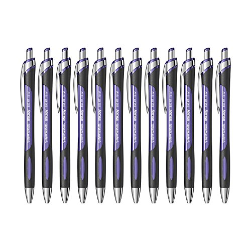 Paper Mate InkJoy 550RT Retractable Ball Point Pen, 1.0mm, Medium Point (Purple)