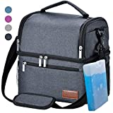 Lunch Box, STNTUS Lunch Bag, Insualted Lunch Box for Men Women, Leakproof Cooler Bag with Ice Pack,...