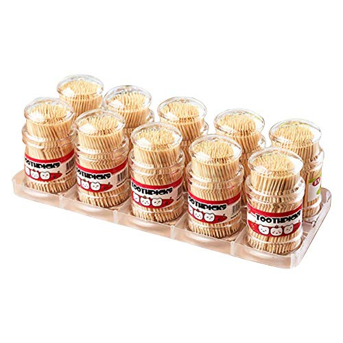 100% All Natural Round Wood Toothpick Disposable Wooden Toothpicks 3 Inch Length 10 Pack of 200, 2000 Pcs in Total