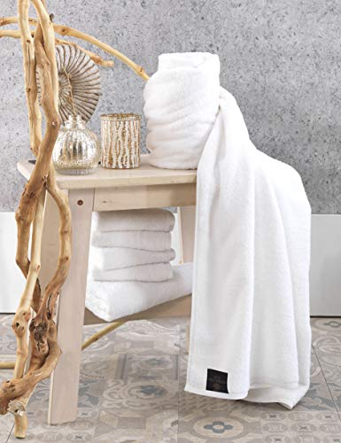 Globaltex Fine Linens 100% Turkish Cotton White Large Lux Collection Beach/Pool Towel - 3 Pieces