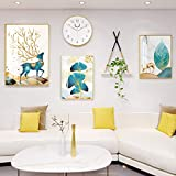 QJKai Set de 3 Marcos de Decoracion Pared,Uno 25x31cm, Uno 31x41cm, Uno 41x60cm,Oro El Plastico Decoración Cuadros Pared para Mesa o Pared