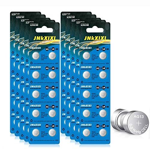 100 Pack LR44 AG13 357 Battery 1.5V SR44 A76 GP76 Lr 44b L1154c 303 Button Coin Cell Batteries JNKXIXI