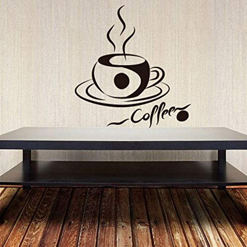 Muurstickers koffiemok aroma morning grain koffiehuis wandversiering kunst muursticker keuken patroon afneembare 57X60 cm