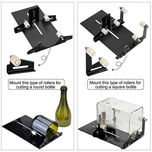 AGPTEK - Máquina de corte de vidrio, cuadrado y redondo, cortador ...