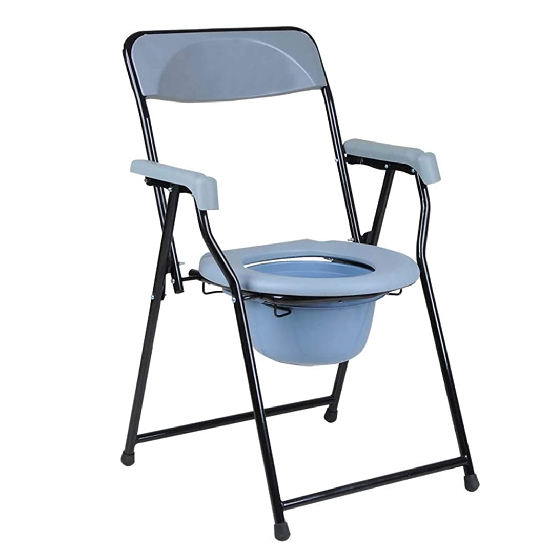一人でシンカン行うパッド入りの椅子トイレステンレス鋼妊婦障害高齢者45 * 51 * 83 cmの椅子