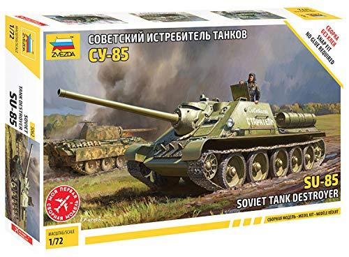 ズベズダ 1/72 ソビエト軍 SU-85 ソビエト自走砲 プラモデル ZV5062
