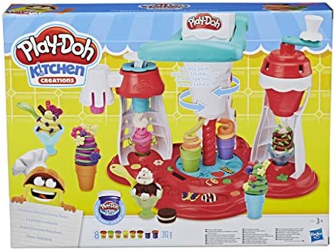Play Doh Kitchen Creations Ultimate Swirl Ice Cream Maker Play Food Set with 8 Non Toxic Colours product image