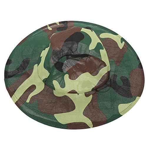 Head Net afdekking, Midge Insect Hat Mesh Visnet Gezichtsbescherming Camouflage Camping Kit voor outdoor vissen Imkerei Beekee