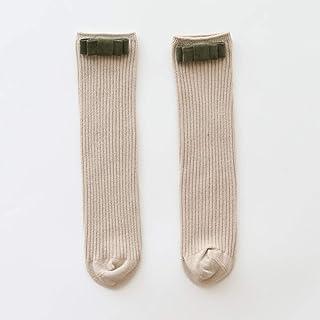 TZOU Children Girls Baby Spring Autumn Mid-Calf Length Sock Flannel Bright Silk Bowknot Socks Accessories Flannel Bow Khak...